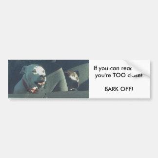 If you can read this...too close Bumper Sticker Car Bumper Sticker