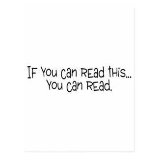 If You Can Read This You Can Read Postcard