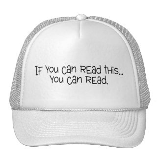 If You Can Read This You Can Read Trucker Hats