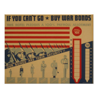If you can t go - buy war bonds posters