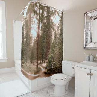 If you cant be outdoors, shower in it! shower curtain