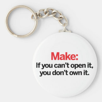 If you can't open it key ring