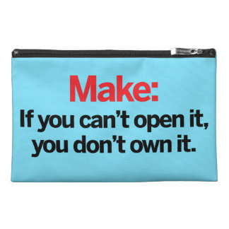 If you can't open it travel accessory bag