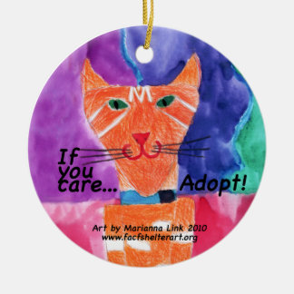 If you care....adopt! christmas ornament