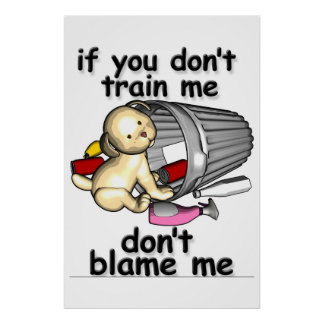 If you don t train me don t blame me poster