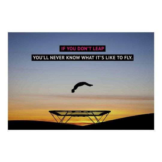 If You Don't Leap - Gymnastics Motivational Poster