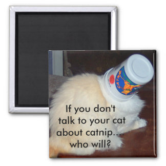 If you don't talk to your cat about catnip...who w square magnet