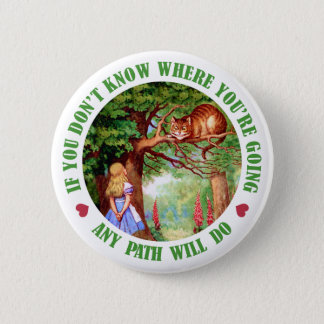 IF YOU DON'T WHERE YOU'RE GOING, ANY PATH WILL DO 6 CM ROUND BADGE