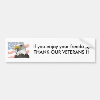 If you enjoy your freedom,THAN... Bumper Sticker