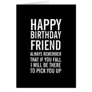 If You Fall Funny Happy Birthday Friend Card