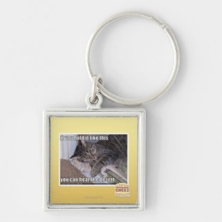 If you hold it like this Silver-Colored square key ring