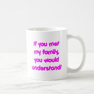 If You Knew My Family - Pink Basic White Mug