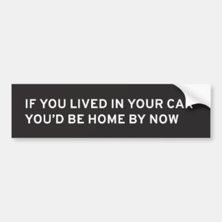 If You Lived in Your Car... Bumper Sticker