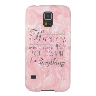If you make a woman laugh Phone case (Peach)