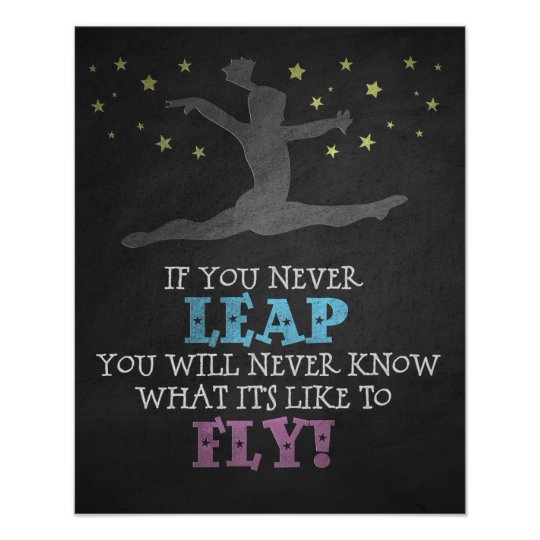 If you Never leap - Inspirational Gymnastics Quote