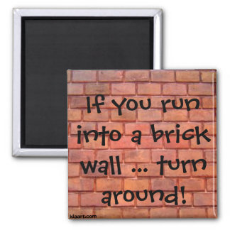 If you run into a brick wall ... turn around! Magn Square Magnet