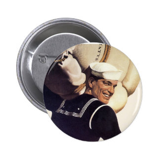 If you tell where he's going... 6 cm round badge
