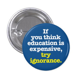If you think education is expensive Button
