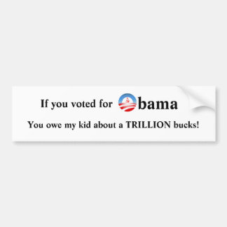 If You Voted For Obama Bumper Sticker