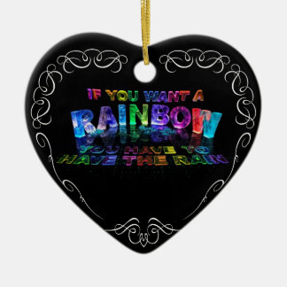 If You Want a Rainbow You Have to Have the Rain Christmas Ornament
