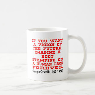 If you want a vision of the future basic white mug