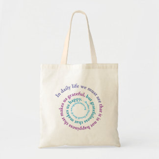 """""""If You Want to be Happy..."""" Spiral, Totebag"""