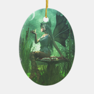 If you want to meet a handsome prince... ceramic oval decoration
