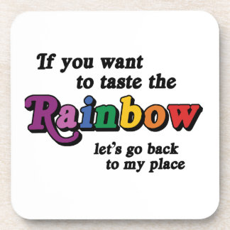 If you want to taste the rainbow coaster