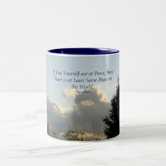 If You Yourself are at Peace, then ... Two-Tone Coffee Mug