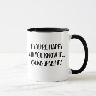 If You're Happy And You Know It... Coffee (Mug) Mug