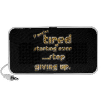 If you're tired of starting over... iPhone speaker