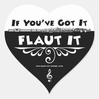 If You've Got It - Flaut It heart stickers