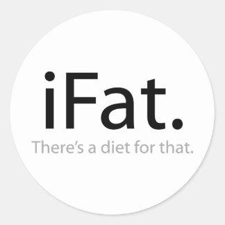 iFat Classic Round Sticker