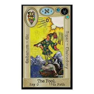 Ifdawn Deepdream Tarot Key 0 ~ The Fool Poster