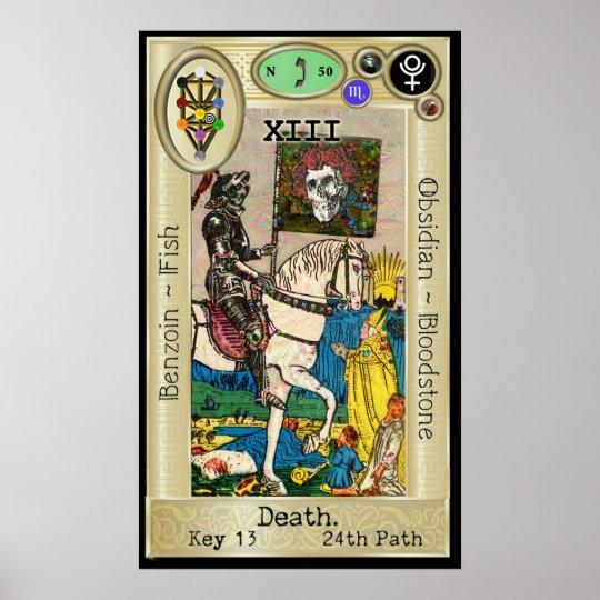 Ifdawn Deepdream Tarot Key 13 ~ Death Poster