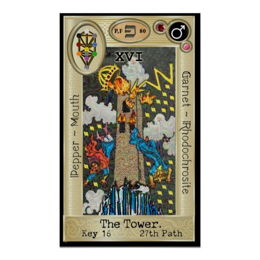 Ifdawn Deepdream Tarot Key 16 ~ The Tower