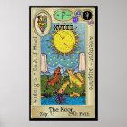 Ifdawn Deepdream Tarot Key 18 ~ The Moon Poster