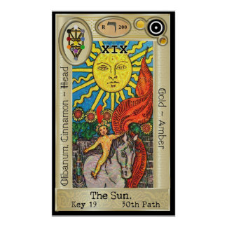 Ifdawn Deepdream Tarot Key 19 ~ The Sun Poster