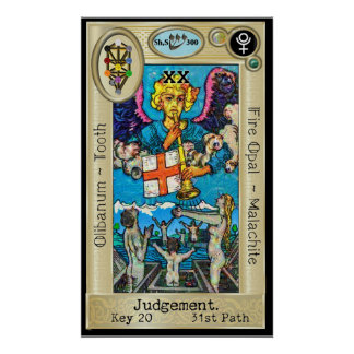 Ifdawn Deepdream Tarot Key 20 ~ Judgement Poster