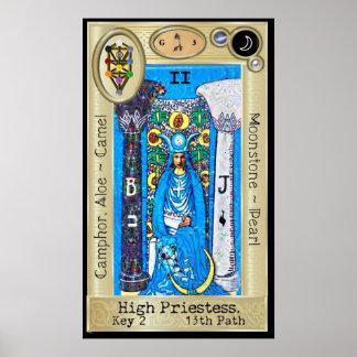 Ifdawn Deepdream Tarot Key 2 ~ The High Priestess Poster