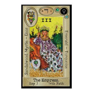 Ifdawn Deepdream Tarot Key 3 ~ The Empress Poster