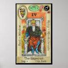 Ifdawn Deepdream Tarot Key 4 ~ The Emperor Poster