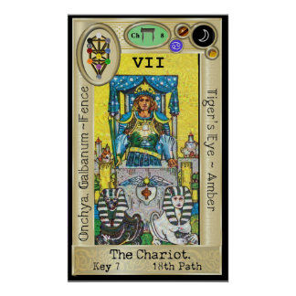 Ifdawn Deepdream Tarot Key 7 ~ The Chariot Poster