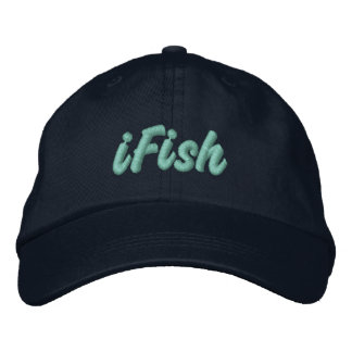 iFish in Lake Tahoe, Sierra Nevada Mountains Embroidered Hat