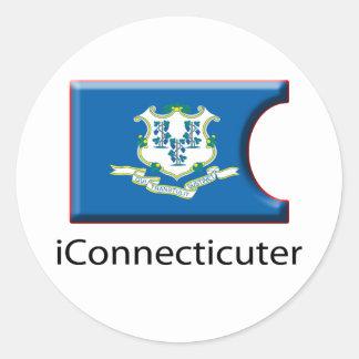 iFlag Connecticut Round Sticker