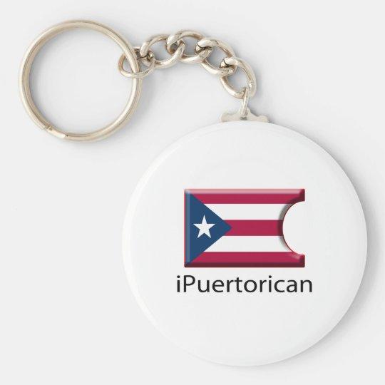 iFlag Puerto Rico Basic Round Button Key Ring