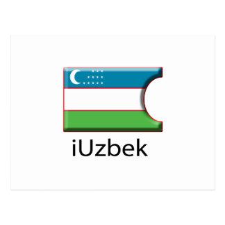 iFlag Uzbekistan Post Cards