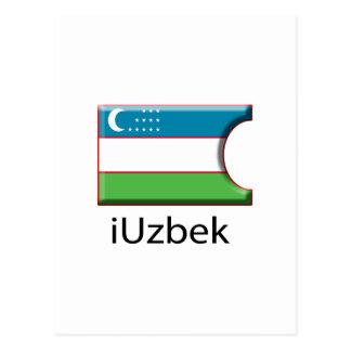 iFlag Uzbekistan Postcard