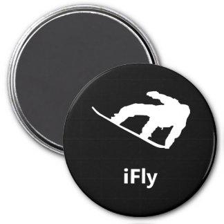 iFly Snowboard 7.5 Cm Round Magnet