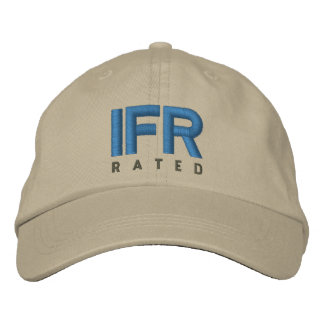 IFR 	Instrument Flight Rules Rated Embroidered Baseball Cap